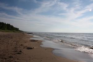 A shot of the beach where I  walk